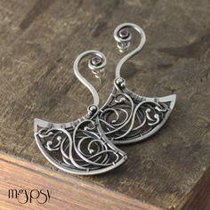 https://flic.kr/p/fr5CyG   Cranei   Sterling, Fine Silver & Rhodolite Earrings