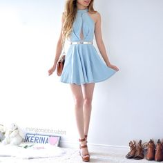 My obsession with denim is real get this super cute denim dress from Casual Outfits For Teens, Girly Outfits, Dresses For Teens, Skirt Outfits, Pretty Outfits, Beautiful Outfits, Cute Dresses, Casual Dresses, Cool Outfits