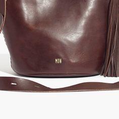 Rivet & Thread Tassel Mini Bucket Bag // Madewell Keepsake Crafts, Vegetable Tanned Leather, Italian Leather, Madewell, Bucket Bag, Tassels, Shoulder Strap, Tote Bag, Mini