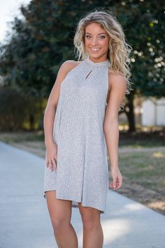 """""""Better Days Ahead Dress, Gray"""" 
