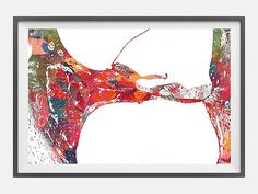 Inner ear Histology Watercolor Print anatomy art Cochlea