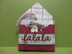 Stampin' UP Home for Christmas Tags/Ornaments with SU Envelope Punch Board Box holder created by Lynn Gauthier using SU Home for Christmas Designer Series Paper and SU's Seasonal Frame Thinlits Dies. Go to http://lynnslocker.blogspot.com/2015/12/stampin-up-home-for-christmas-tags-with.html for instructions on how to make this project.
