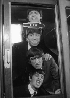 Beatles make faces