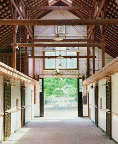 Classic, Airy, and Light  Photo Credit: Pieter Estersohn. Gainesway FarmLexingtonView from inside one of the barns.