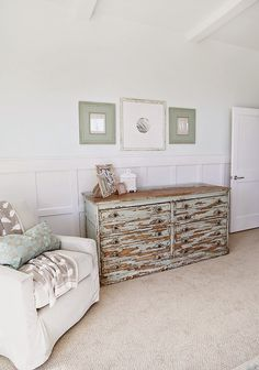 Louis Blue or Duck Egg Blue look chippy dresser ---- this look for dresser in kitchen, use cup handles