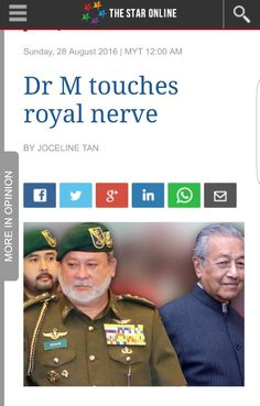 Don't mess with my state ruler!!! Not many people knew of Tun Dr Mahathir Mohamad's prickly ties with the Johor palace but it is now all out in the open following the royal rebuke over the Bangsa Johor issue.