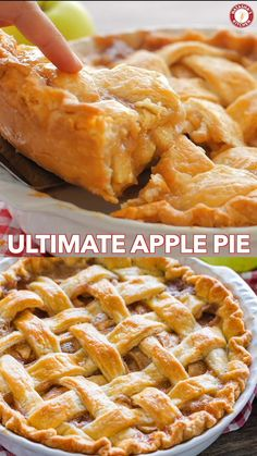 Apple Pie Recipe with the Best Filling! Apple Pie Recipe with the Best Filling! The only Apple Pie Recipe you will need! The pie crust is perfection and the filling will surprise and delight you. Everyone has to make this Apple Pie! Thanksgiving Recipes, Fall Recipes, Sweet Recipes, Dinner Recipes, Recipes For Apples, Thanksgiving Turkey, Apple Pie Recipes, Crockpot Recipes, Chicken Recipes