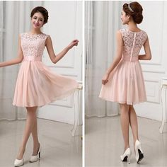 One Strap Bridesmaid Dresses New Vestidos De Fiesta Pink White Chiffon Short Formal Prom Gowns Back Lace Evening Dress Elegant Bridesmaid Dress Brides Maid Dress Short Bridesmaid Dress From Infine, $18.85| Dhgate.Com