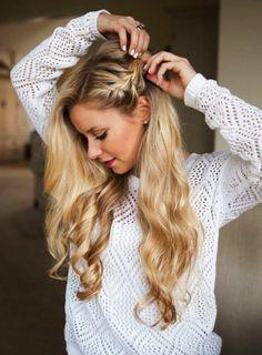 Best Side Braid Frisuren Ideen in 2020 Box Braids Hairstyles, Half Braided Hairstyles, African Hairstyles, Messy Hairstyles, Wedding Hairstyles, Bridesmaid Hair, Prom Hair, Top Braid, Cool Braids