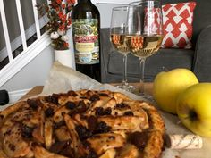 Pelee Island Winery J. Hamilton White with Apple Crostata with Cheddar Crust. - Essex County Wineries & Breweries Sip into the end of fall with Pelee Island JS Hamilton White 🥂! Vegetarian Pasta Salad, Aged Cheese, Essex County, Complete Recipe, Egg Wash, Fresh Lemon Juice, Seafood Dishes, Wineries, Cheddar