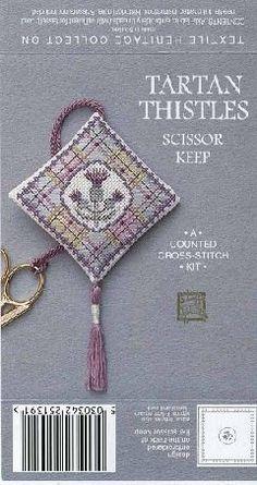 Geometric Tile Pin Cushion Needle Case Scissor Fob Cross Stitch Chart I