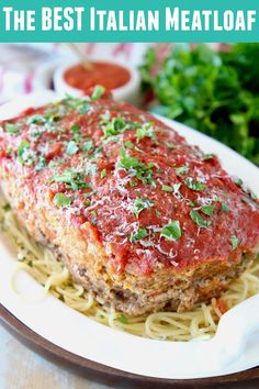Italian sausage and ground beef are combined with Italian herbs, parmesan & ricotta cheese in the best Italian meatloaf ever! This recipe is made in under an hour for an easy meal! meatloaf recipe The BEST Italian Meatloaf Ground Italian Sausage Recipes, Sausage Recipes For Dinner, Ground Beef Recipes, Italian Recipes, Ground Beef Sausage Recipe, Ricotta Cheese Recipes, Queso Ricotta, Parmesan Recipes, Meatloaf Recipe With Sausage