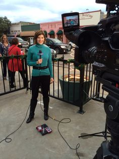 December 11, 2014 - Did live weather at 5 & 6 from Bastrop for the Lost Pines Christmas and thought I'd wear a turtleneck in case it was a little chilly outside.  To my closet I went & found this Calvin Klein turtleneck.  I usually remember where I buy each item in my wardrobe, but this one I can't recall!  I think this dates back to Minnesota days.