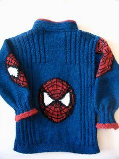 spiderman cardigan