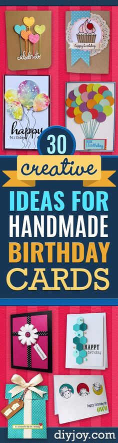 DIY Birthday Cards - Easy and Cheap Handmade Birthday Cards To Make At Home - Cute Card Projects With Step by Step Tutorials are Perfect for Birthdays for Mom, Dad, Kids and Adults - Pop Up and Folded Cards, Creative Gift Card Holders and Fun Ideas With Cake