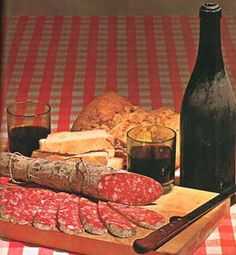 Simple Italian food is The Best!!  Salumi with cheese & vino.............yum.....