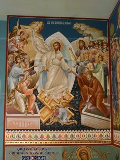 Byzantine Art, Byzantine Icons, Religious Icons, Religious Art, Greek Icons, Fortune Cards, Catholic Pictures, Christ Is Risen, Life Of Christ