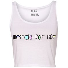 Weirdo for Life Tank Crop Top ($16) ❤ liked on Polyvore featuring tops, shirts, crop top, lullabies, tanks, light yellow, women's clothing, pink crop top, crop tank e shirts & tops