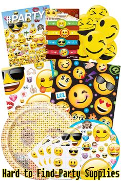 Check Out Our Huge Selection Of Emoji Themed Party Supplies From Tableware And Favors