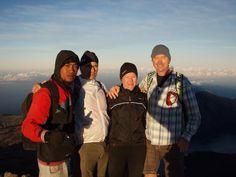 Mt Rinjani, Lombok at sunrise. 4000m