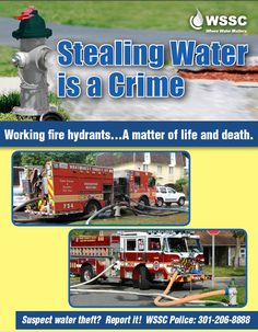 Stealing Water From A Fire Hydrant Is A Crime  More: http://mcfrs.blogspot.com/2016/07/stealing-water-from-fire-hydrant-is.html