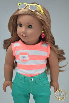 """American girl doll clothes OOAK """" 4 pieces items - Tee, Tank, Skirt & Skinny…"""