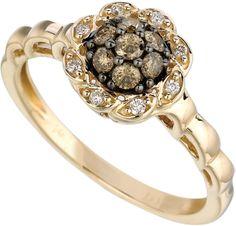 Le Vian® Honey Gold® Natural Chocolate Diamond® Ring: .31ctw