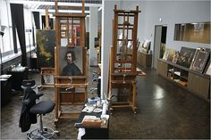 Art conservation lab