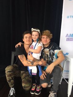 Kian Lawley, Jc Caylen and their daughter.... I mean, their fan.... Really good fan... ;)