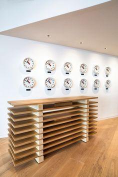 At Saltz in Zurich, Eero Saarinen chairs face custom sofas by Rolf Sachs, who designed the restaurant. Photography by Nico Schaerer, courtesy of the Dolder Gra. Alpine Restaurant, Modern Restaurant, Restaurant Interior Design, Interior S, Restaurant Bar, Interior And Exterior, Interior Design Magazine, Zurich, Rolf Sachs