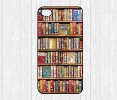 Bookshelf iPhone 4 CaseBook library iPhone 4 4g 4s by ihomegift, $6.99