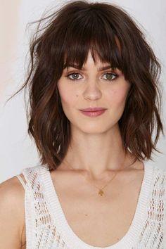 cool Short Haircuts having Bangs and wavy Hair