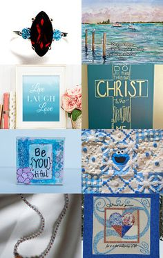 Blue - Peaceful and Serene by Evelyn Mayfield on Etsy--Pinned with TreasuryPin.com