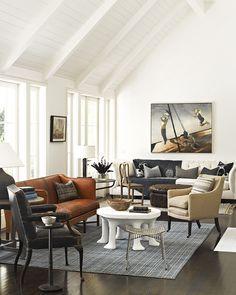 Living Room ocean malibu beach house cottage