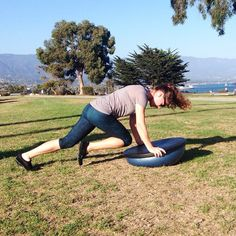 This is one of my girls from the Triple A Program (for arms, abs, and other assets)!   Join us for a new Fall session in Santa Barbara, starting this 10/21. We've got more toys like this! http://bethalexanderfitness.com   #BOSU #core #health #fitness #balance #exercise