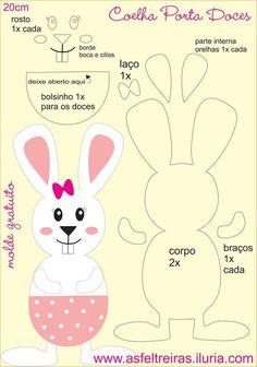 Preschool Art Activities Easter Crafts Crafts For Kids Coelho Creative Virginia Snowman Ornaments Cool Ideas Molde Felt Patterns, Applique Patterns, Sewing Patterns, Stuffed Toys Patterns, Felt Crafts, Diy And Crafts, Paper Crafts, Easter Crafts For Kids, Diy For Kids