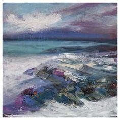 Seascape Paintings, Landscape Paintings, Landscapes, Abstract Landscape, Abstract Art, Abstract Expressionism, Edinburgh, Images Google, Beach Scenes