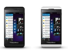 BlackBerry unveils Z10, available in both black and white with pretty decent specs.