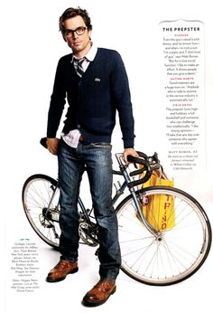 preppy can be so cute...he would never wear this, but I love a preppy guy!