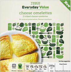 Buy Tesco Everyday Value 2 Cheese Omelettes (200g) online in Tesco at mySupermarket