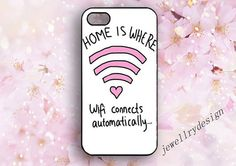 WIFI cyber iphone 5s casehome is where iphone by jewellrydesign, $9.99