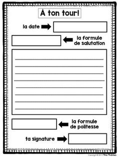 French Letter Writing/Comment écrire une lettre French Teaching Resources, Teaching French, Teaching Writing, Teaching Spanish, Writing Activities, Biology Humor, Chemistry Jokes, Science Jokes, French Worksheets