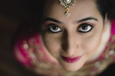 Eyes are the best feature of the face and you should highlight them with perfect bridal make up for the eye. Eyes speak volumes and everybody can read that sparkling eyes of the bride to be.