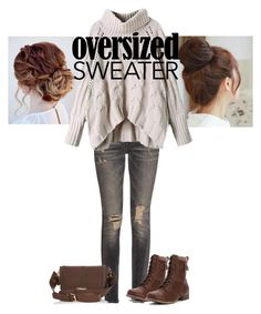 """""""Oversized Sweater Bunheads"""" by the-midnight-garden ❤ liked on Polyvore featuring R13, Pin Show, Jellypop and River Island"""