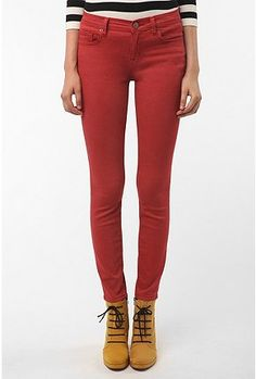 Need red/burnt red jeans for Fall