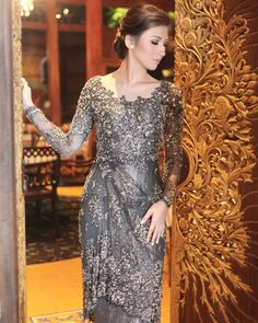 Vera Kebaya, Kebaya Lace, Batik Kebaya, Kebaya Dress, Dress Pesta, Dress Brokat Modern, Kebaya Modern Dress, Kebaya Wedding, Muslimah Wedding Dress