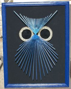 OWL String Art 3D 18 X 24 Wall Hanging by StringSection on Etsy, $69.00