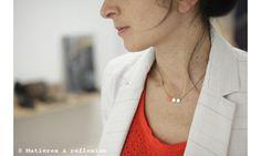 """Necklace """"Matière à Réflexion"""" - Love!"""