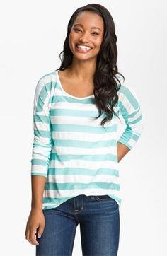 Painted Threads Burnout Stripe Tee (Juniors) available at #Nordstrom