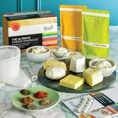 We now have these amazing cheese making kits available. Perfect as a gift or just to treat yourself. All kits include full instructions and will make several batches of cheese. Cheese Mold, Queso Cheese, Cheese Lover, Almond Cakes, Wine List, Halloumi, How To Make Cheese, Organic Recipes
